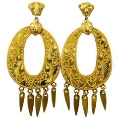 Victorian Pendeloque Gold Earrings