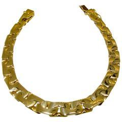 Unusual Gold Link Bracelet