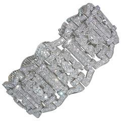 Art Deco Diamond Platinum Bracelet, circa 1935