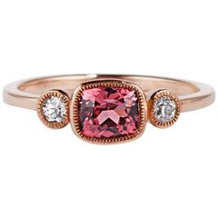 Cushla Whiting Red Spinel and Diamonds set in Rose Gold Engagement Ring
