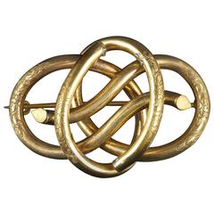 Antique Victorian Knot Brooch, 1880