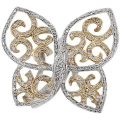 Diamond Butterfly 18 kt Gold Ring