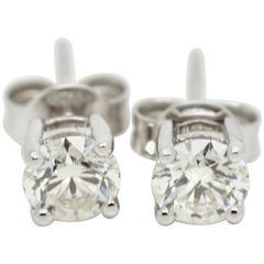 0.5 Carat Diamond Solitaire Earrings