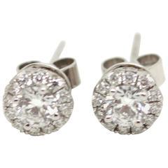 0.81 Carat Diamond Cluster Earrings