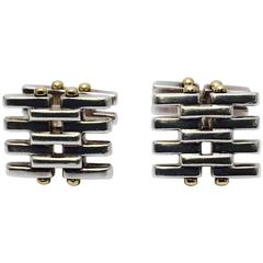 Tiffany & Co. Glamorous Gatelink Yellow Gold Sterling Silver Cufflinks