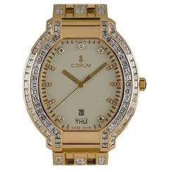 Corum Yellow Gold Diamond Quartz Dress Wristwatch