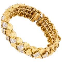 Hammerman Bros. 18K Gold Bracelet with Diamonds