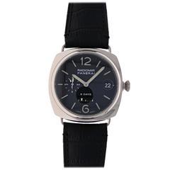 Panerai White Gold Radiomir Sp Edition 8 Days GMT PAM 200 Wristwatch