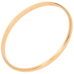 Tiffany & Co. Yellow Gold Oval Bangle Bracelet
