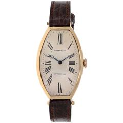 Tiffany & Co. Agassiz Yellow gold Tonneau Mechanical Wristwatch