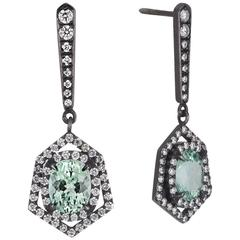 Cushla Whiting 'Constellation' Tourmaline White Diamond Drop Earrings