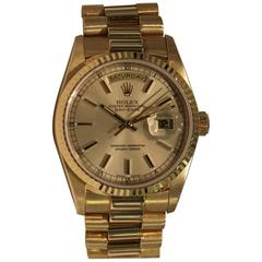 Rolex Yellow Gold Day Date President Bracelet Wristwatch, circa 1995