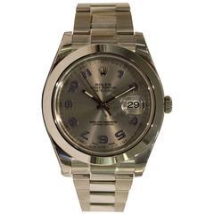 Rolex Stainless Steel Datejust Oyster Bracelet Wristwatch