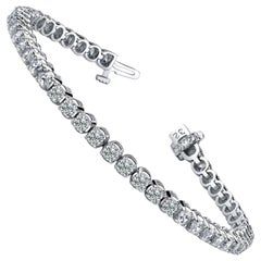 Emilio Jewelry Diamond Four Prong Tennis Bracelet