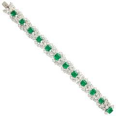 Harry Winston Emerald Diamond Bracelet