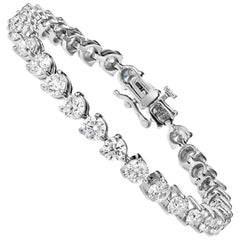9.00 Carat Diamond Three Prong Tennis Bracelet