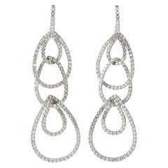 Dangling Diamond Teardrop and White Gold Earrings by Odelia