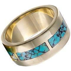 Elias Turquoise Gold Ring