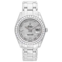 Rolex Platinum Masterpiece Pearlmaster Special Edition Wristwatch Ref 18946