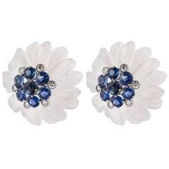 Aletto Bros. Rock Crystal Flower Earrings