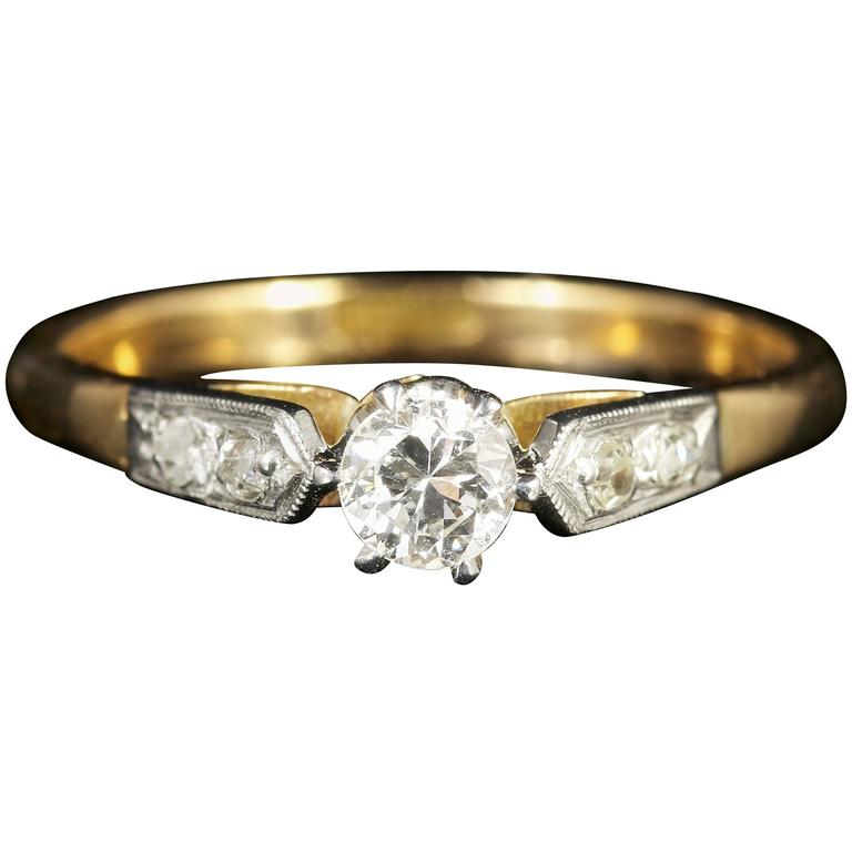 Antique Edwardian Diamond Engagement Ring, circa 1915 1