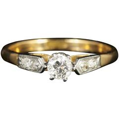 Antique Edwardian Diamond Engagement Ring, circa 1915