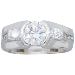 Custom Bezel Set Diamond Ring