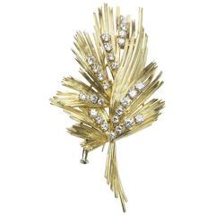 Gübelin Diamond Gold Brooch