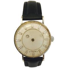 Jaeger LeCoultre Vacheron Constantin Yellow Gold Mystery manual wind Wristwatch