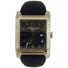 Baume & Mercier stainless steel Diamonds Hampton quartz Wristwatch