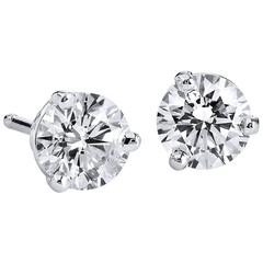 H & H 0.66 Carat Diamond Stud Earrings