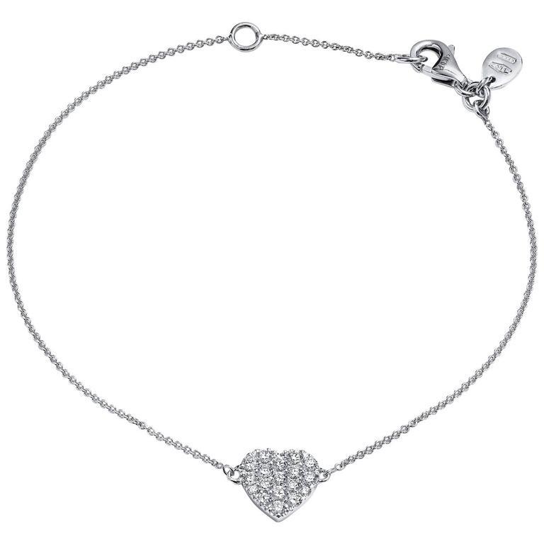 0.30 Carat Diamond Heart Bracelet