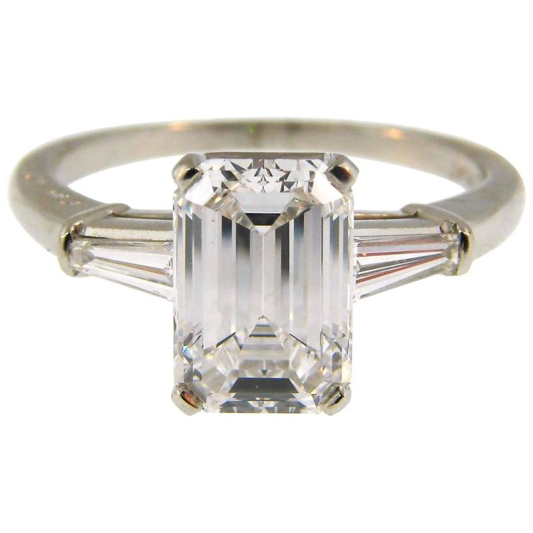cartier emerald cut engagement ring