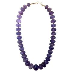 Michael Kneebone Faceted Amethyst Bead Necklace