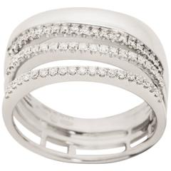 Salvini 0.30 Carat Diamond Wide Band in White Gold Made in Italy