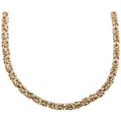 9 Carat Gold Byzantine Chain