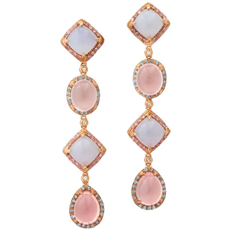 Faraone Mennella Quisisana Rose Gold Earrings For Sale