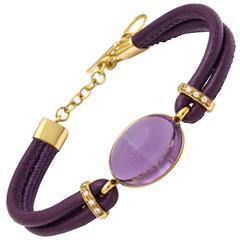 Faraone Mennella Amethyst Diamond Gold Bracelet