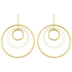Faraone Mennella Concentric Mother-of-Pearl Earrings