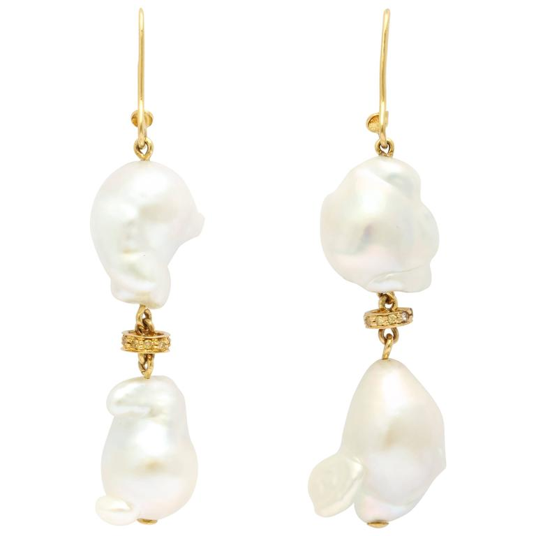 Faraone Mennella Couture Freshwater Pearl Earrings