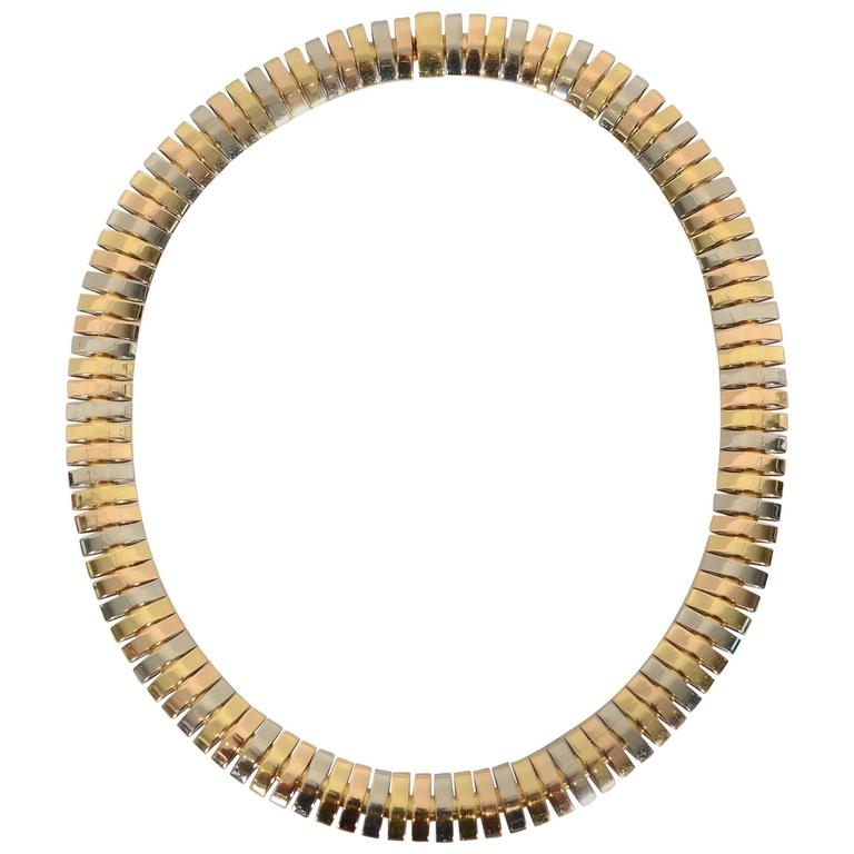 Cartier Tricolor Choker Necklace 1