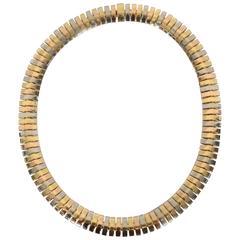 Cartier Tricolor Eighteen Karat Gold Choker Necklace