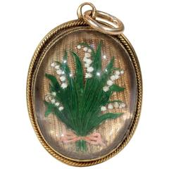 Victorian Essex Crystal Pendant Lily of the Valley