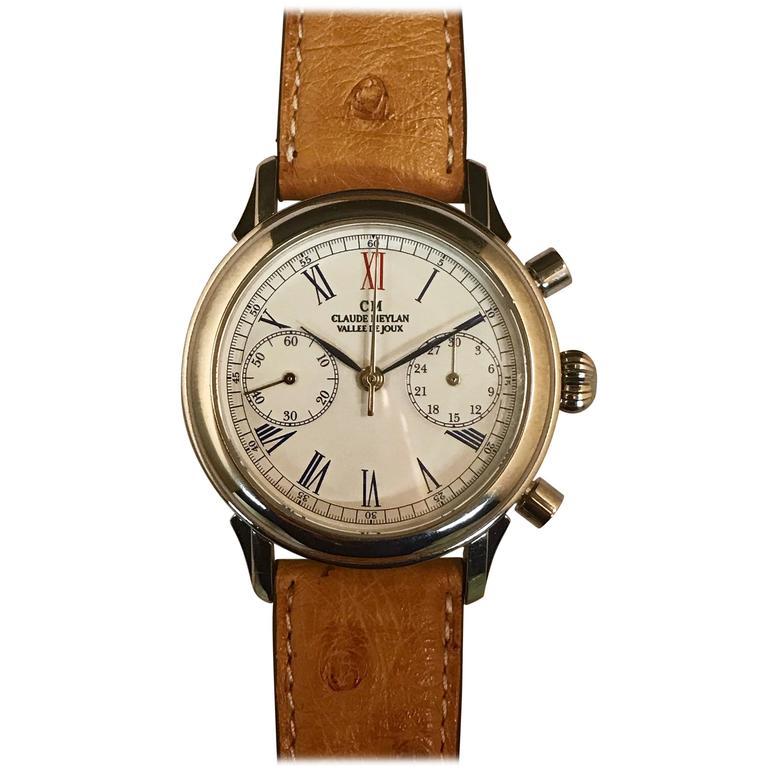 "Claude Meylan Swiss Chronograph Calibre ""22 Valjoux"" Watch"