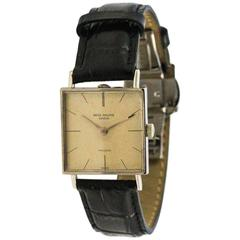 Patek Philippe White Gold Square Face Freccero Manual Wind Wristwatch circa 1970