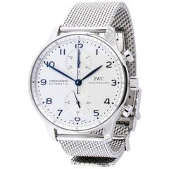 IWC Stainless Steel Portuguese Chronograph Wristwatch