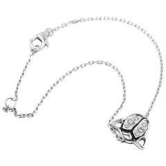 Cartier Diamond White Gold Ladybug Link Bracelet