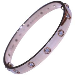 Cartier Diamond Rose Gold Love Bracelet