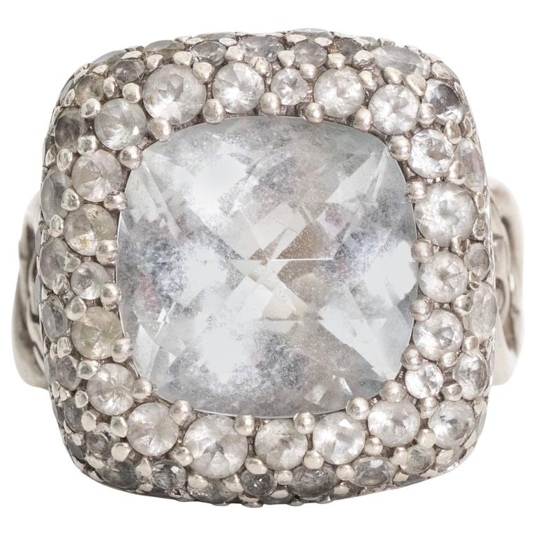 1990s John Hardy Sterling Silver Batu Classic Chain Motif Ring