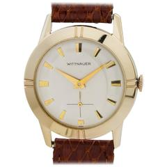 Wittnauer Yellow Gold Dress Model Manual Wind Wristwatch, circa 1950s